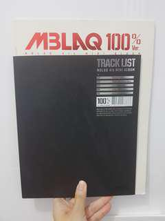 MBLAQ 4th Mini Album - 100% Ver.