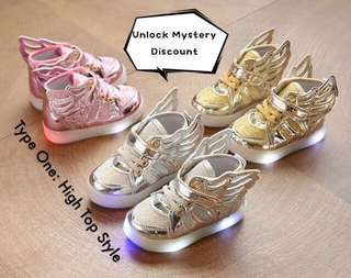 Angel Wings LED Kid Shoes (Preorder, Mystery Discount for Bundle of 2 or More)