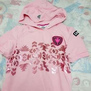 🚚 Roots粉紅帽T/品牌T恤