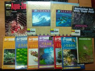 A Big Lot of Books Everything on Aquarium, total 11 pcs