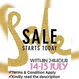 ‼️14-15 July Sales ‼️
