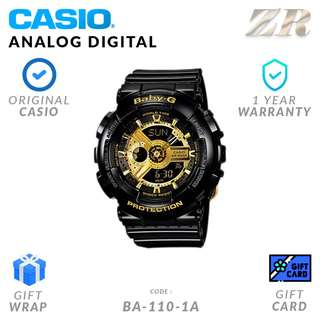 CASIO BABY-G ORIGINAL BA-110-1A Analog Digital Watch - 1 Year Warranty