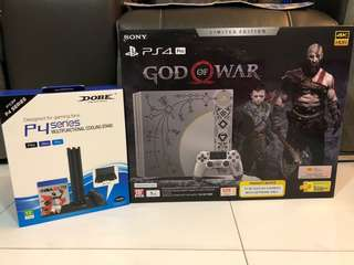 NEW PS4 Pro God Of War With Cooling Fan