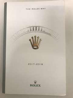 🚚 The Rolex Way 2017-2018 book / catalogue