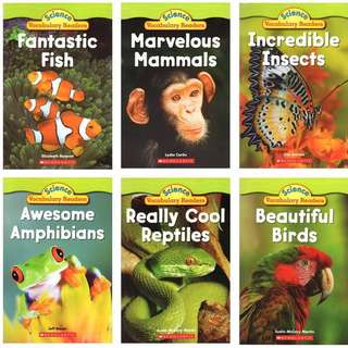 Scholastic Science Vocabulary Readers: Animal Groups (6 books)