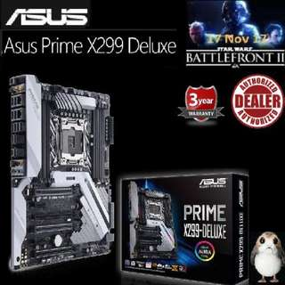 ASUS PRIME X299-DELUXE MOTHERBOARD ( 3 Years Warranty ), + Bundle Together with Intel LGA2066/x299 CPU..., Type of CPU price shown below...