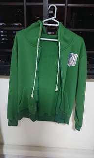 Attack on Titan Hoodie GREEN M SIZE