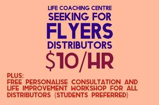 Life coach centre - Flyers distribution part-time job