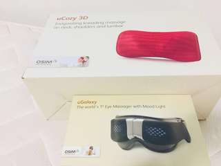 OSIM uCozy 3D and OSIM uGalaxy eyes Massage with mood light musical