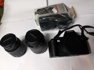 Canon菲林相機 連兩支鏡頭