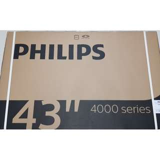 """ONLY 3 SETS LEFT- BRAND NEW PHILIPS 43"""" FULL HD SMART LED TV FOR $599- FULL WARRANTY FROM PHILIPS/ USUAL PRICE $759/ $50-deliver and instal tv for u on the TV stand. PAY DEPOSIT $150 BEFORE DELIVERY AND BALANCE UPON DELIVERY"""
