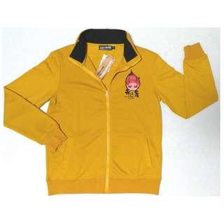 【9/1前任兩件折扣250】羅志祥代言品牌 BIGTRAIN 赤鬼青鬼系列 黃色 棉質立領外套 夾克 M號 (全新)