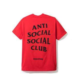 Anti Social Social Club Tee Red SG