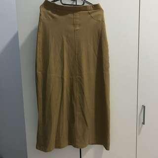 Brown Long Skirt (rok panjang)