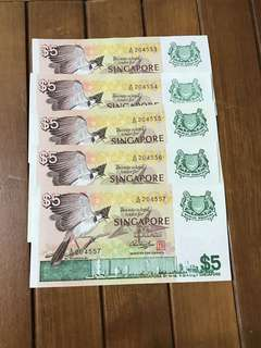 $5 Bird 5x running