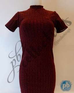 Turtleneck Dress (Knitted Red)