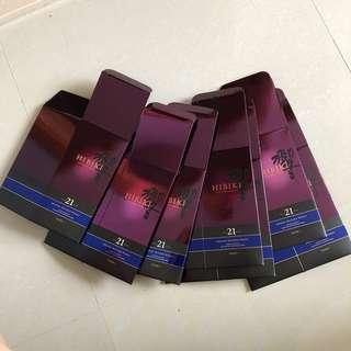 響21 盒 Hibiki21 box total 7pcs 日本威士忌