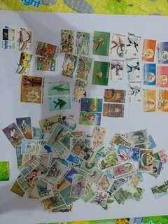 過150張泰國蓋印郵票
