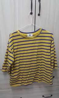 🚚 Rainbow shop購入 條紋五分袖上衣