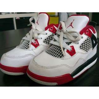 Authentic Jordan 4 Fire Red