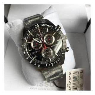 瑞士品牌 Tissot T044 Watch 天梭 多功能 男士 精鋼 石英 運動休閒 手錶 腕錶 42mm (WT15)
