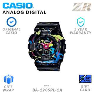 CASIO BABY-G ORIGINAL BA-120SPL-1A Analog Digital Watch - 1 Year Warranty