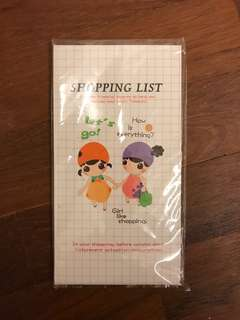 Shopping list planner small cute notebook