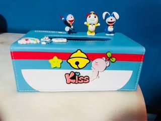 BN PVC Doraemon Tissue Box