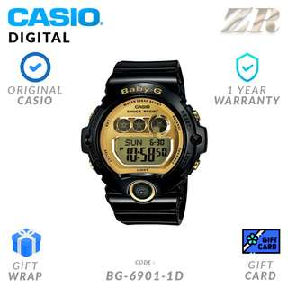 CASIO BABY-G ORIGINAL BG-6901-1D Digital Watch - 1 Year Warranty