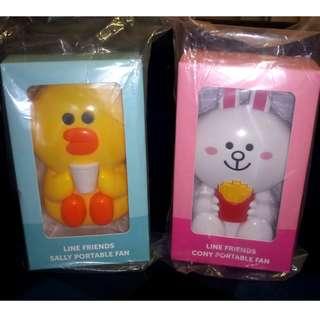 麥當勞McDonald's---------x Line Friends Sally & Rabbit Portable Fan