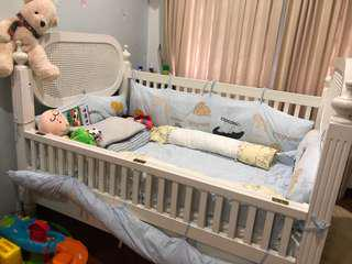 Baby Cot with Mattress to Bless