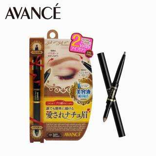 【AVANCE】2Way濃密雙效亮澤修護眉筆 淺棕色