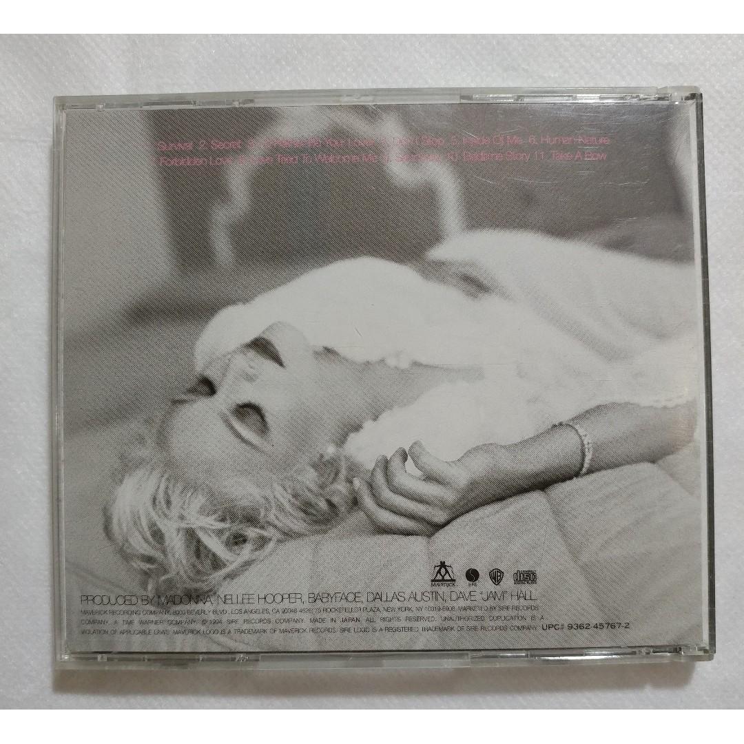 日版 Madonna《Bedtime Stories》1994年 附側紙 有日文解說 全套齊件