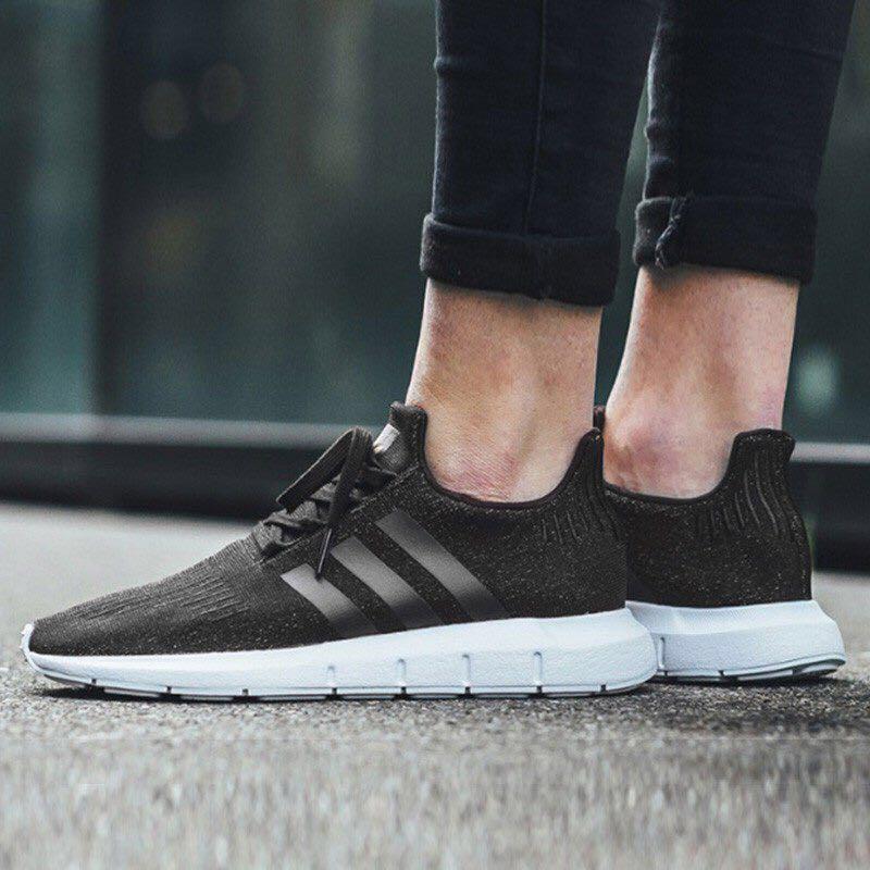 the latest 54a4f c34d6 Adidas Unisex Originals Swift Run Black Shoes Sneakers B37726 ...