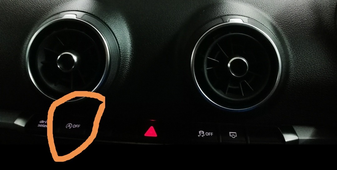Audi A3 turn off the automatic start and stop function
