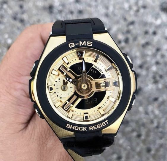 d4f2d64ce44 Authentic Brand New Casio Baby-G MSG-400G-1A2 Ladies Black Gold ...