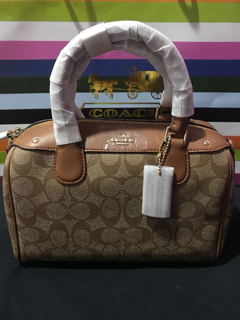 Authentic Coach Signature Bennett Satchel 19bc5e6468882