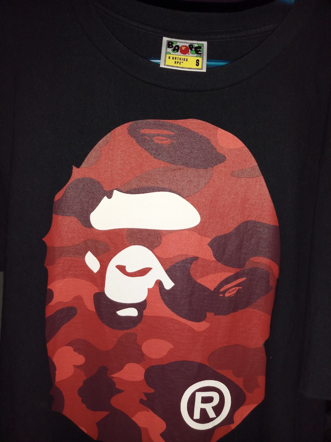 9298713c Bathing Ape T-shirt red camo, Men's Fashion, Clothes, Tops on Carousell