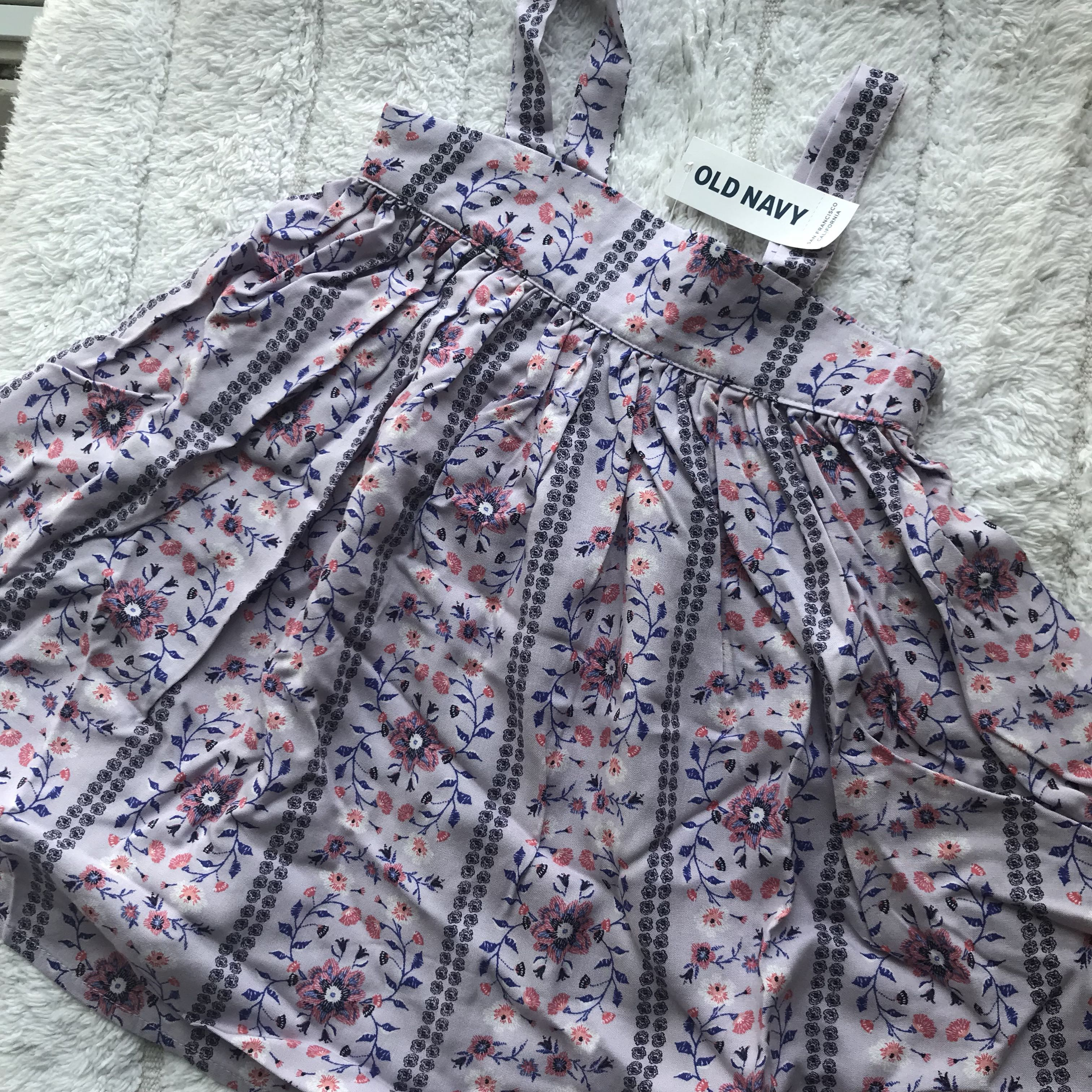 e2e9f5312 BN Old Navy Toddler Girl Floral Summer Tank Dress 18mths-3T available! Two  colours cream and lilac!, Babies & Kids, Girls' Apparel, 1 to 3 Years on ...