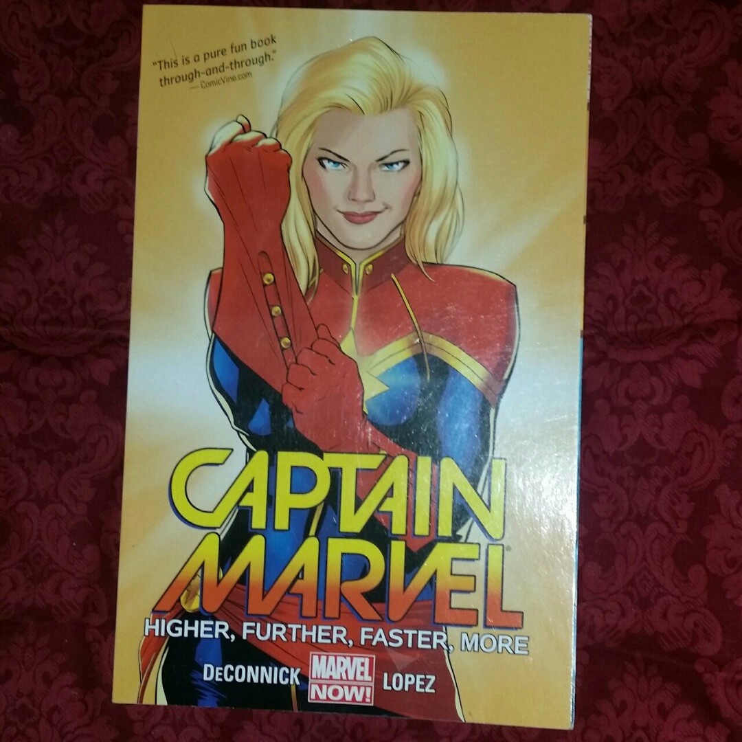 captain marvel higher further faster on carousell