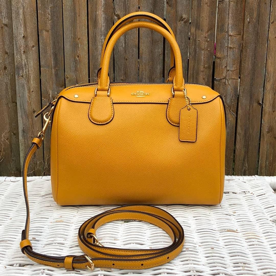 02daa06269 coupon code for coach crossgrain leather mini bennett satchel in goldenrod barangan  mewah beg dan dompet