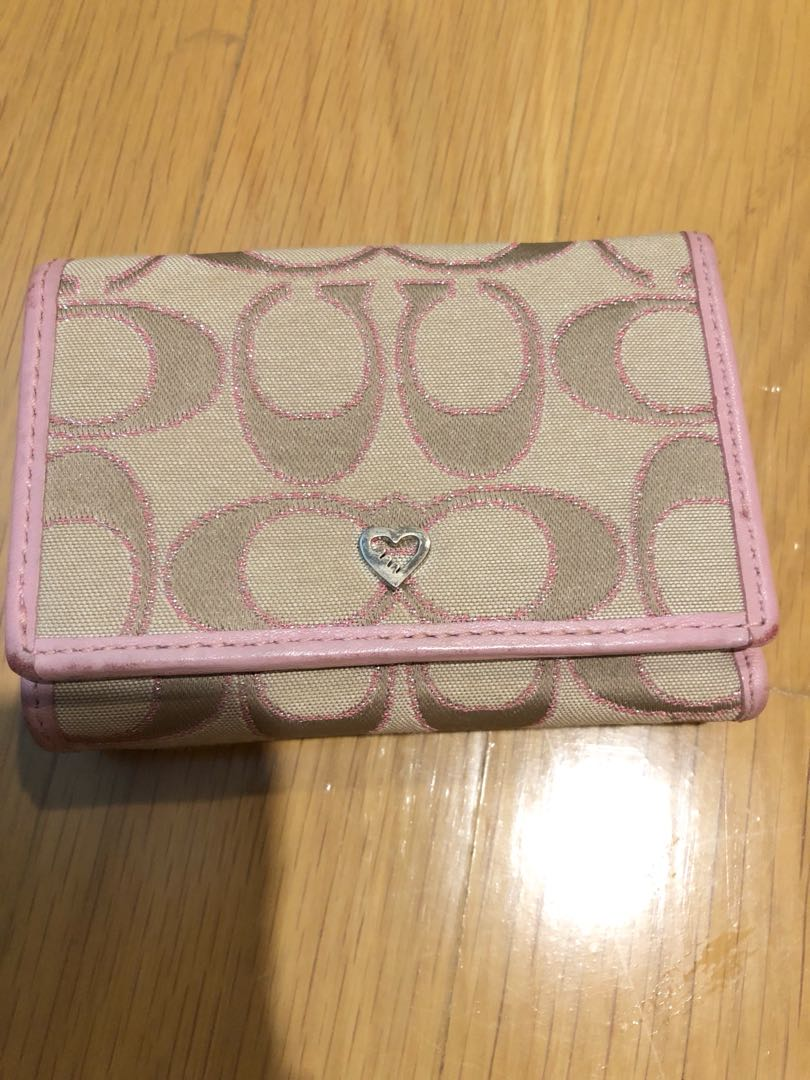 c3635185 Coach Pink Wallet Poppy trifold