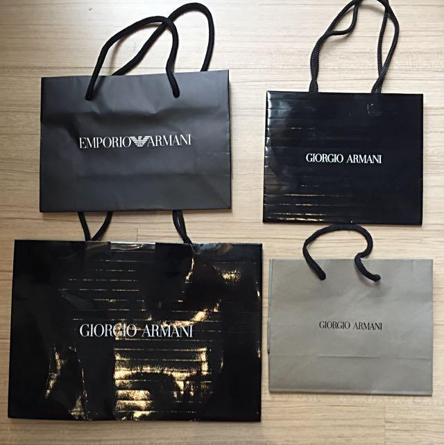 Giorgio Armani Emporio Armani Small Paper Bags e8aa6060525da