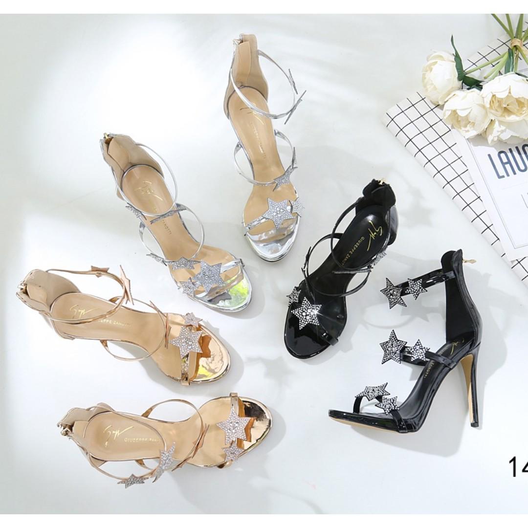 b28fe1f4746 Giuseppe Zanotti Star Heels #1415-1A, Women's Fashion, Shoes, Heels ...