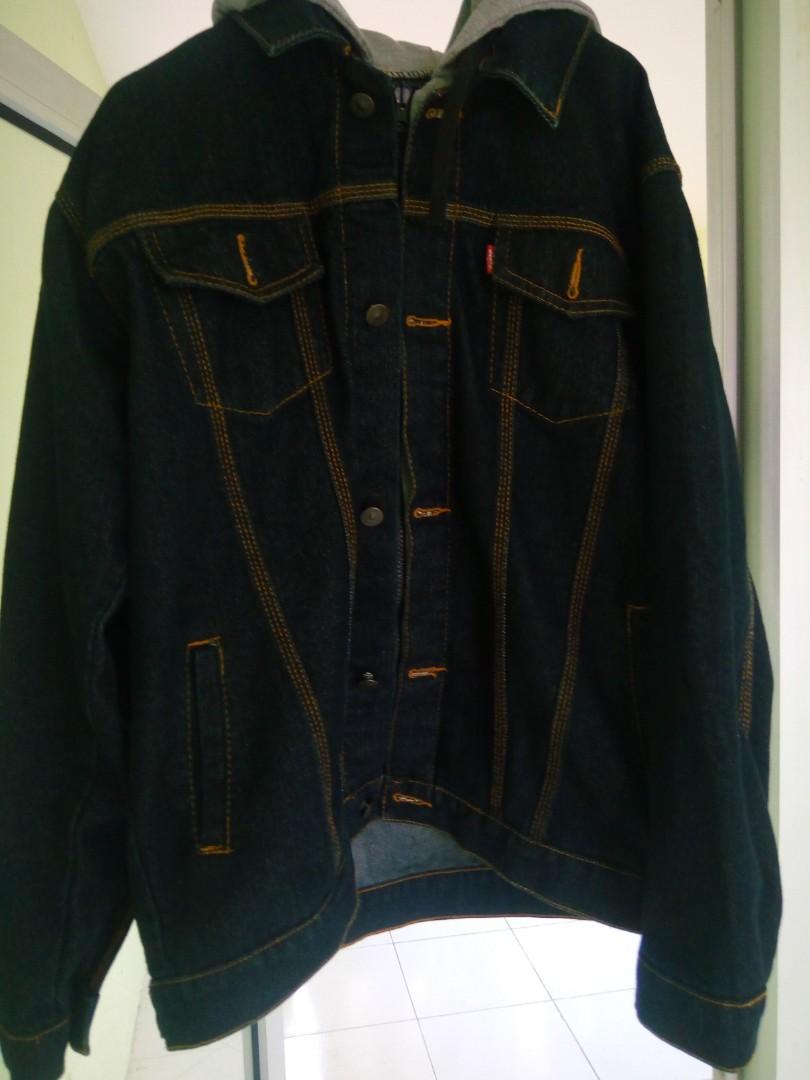 Harga Jual Jaket Levis Berkupluk Jeans Biowash Jean Pria Biru Tua Jak 2044 Denim Preloved Fesyen Pakaian Di Carousell