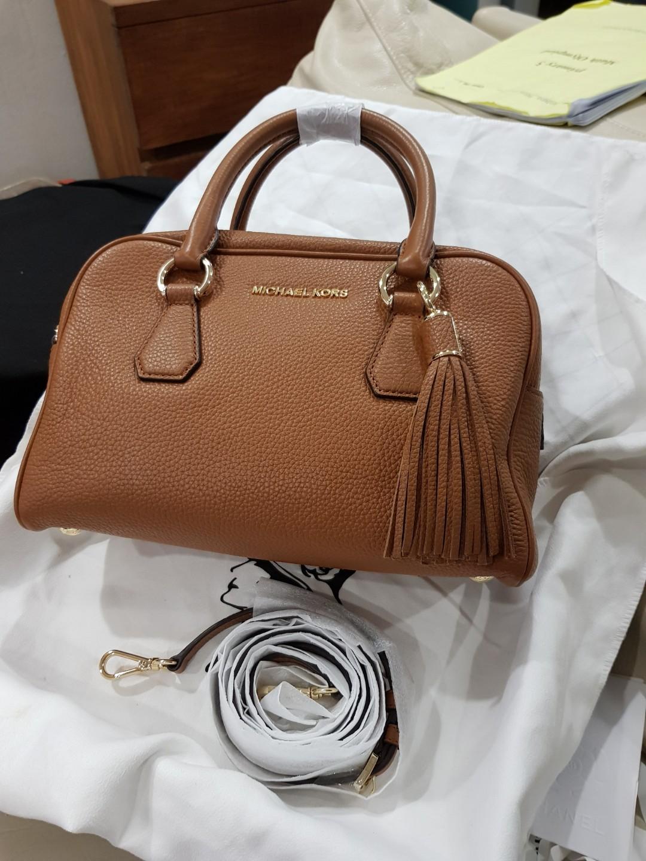 reduced michael kors bedford accorn tassel satchel luxury bags rh sg carousell com