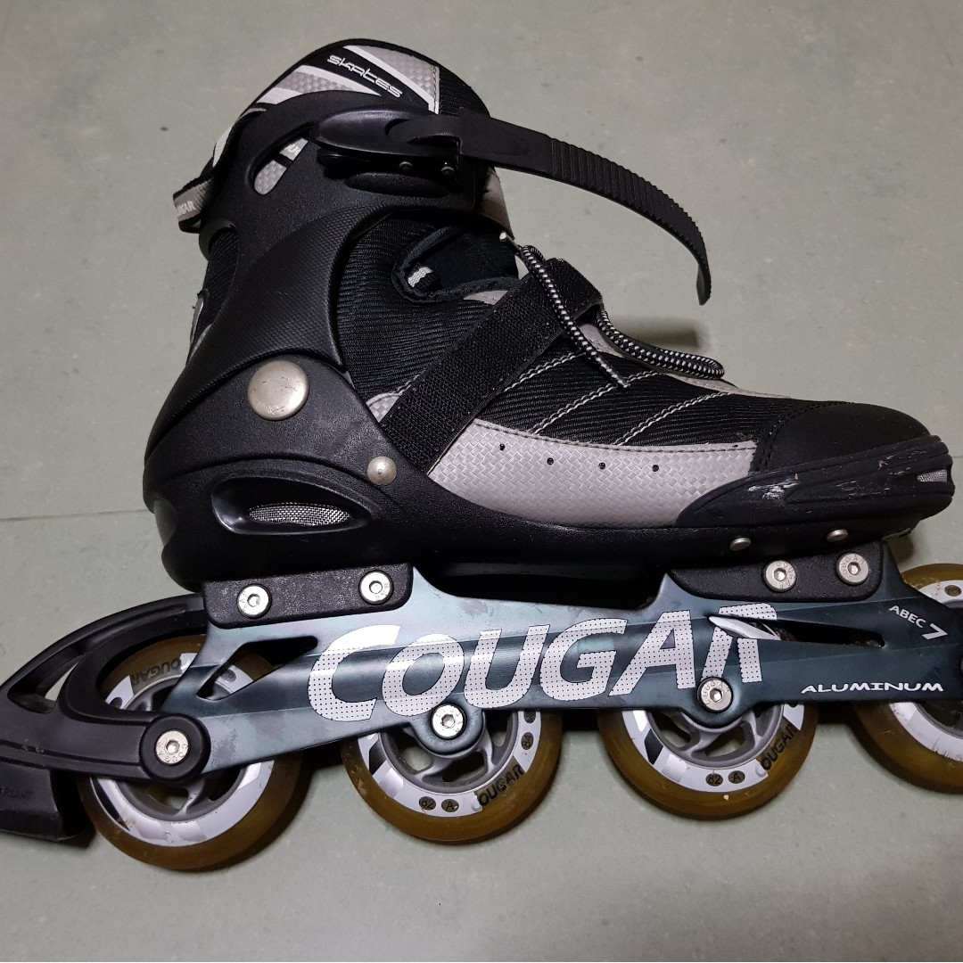 fdb361a2c48 New like Cougar inline skates with guards and a helmet, Bicycles ...
