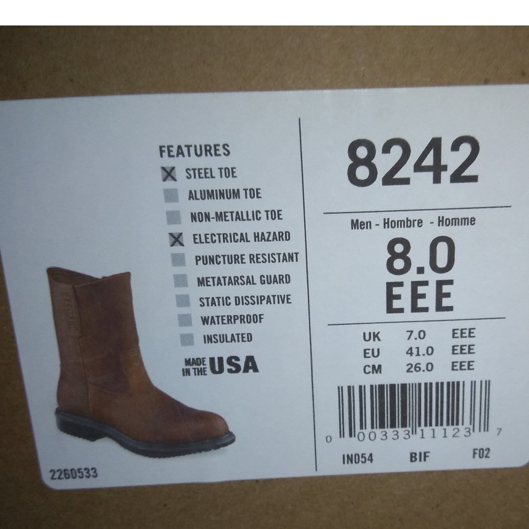 ca8418a2be0d4 New Red Wing Safety Boots Men S Fashion Footwear. Red Wing Shoes Supersole  402 Men S 8 Electrical Hazard Waterproof Soft Toe ...