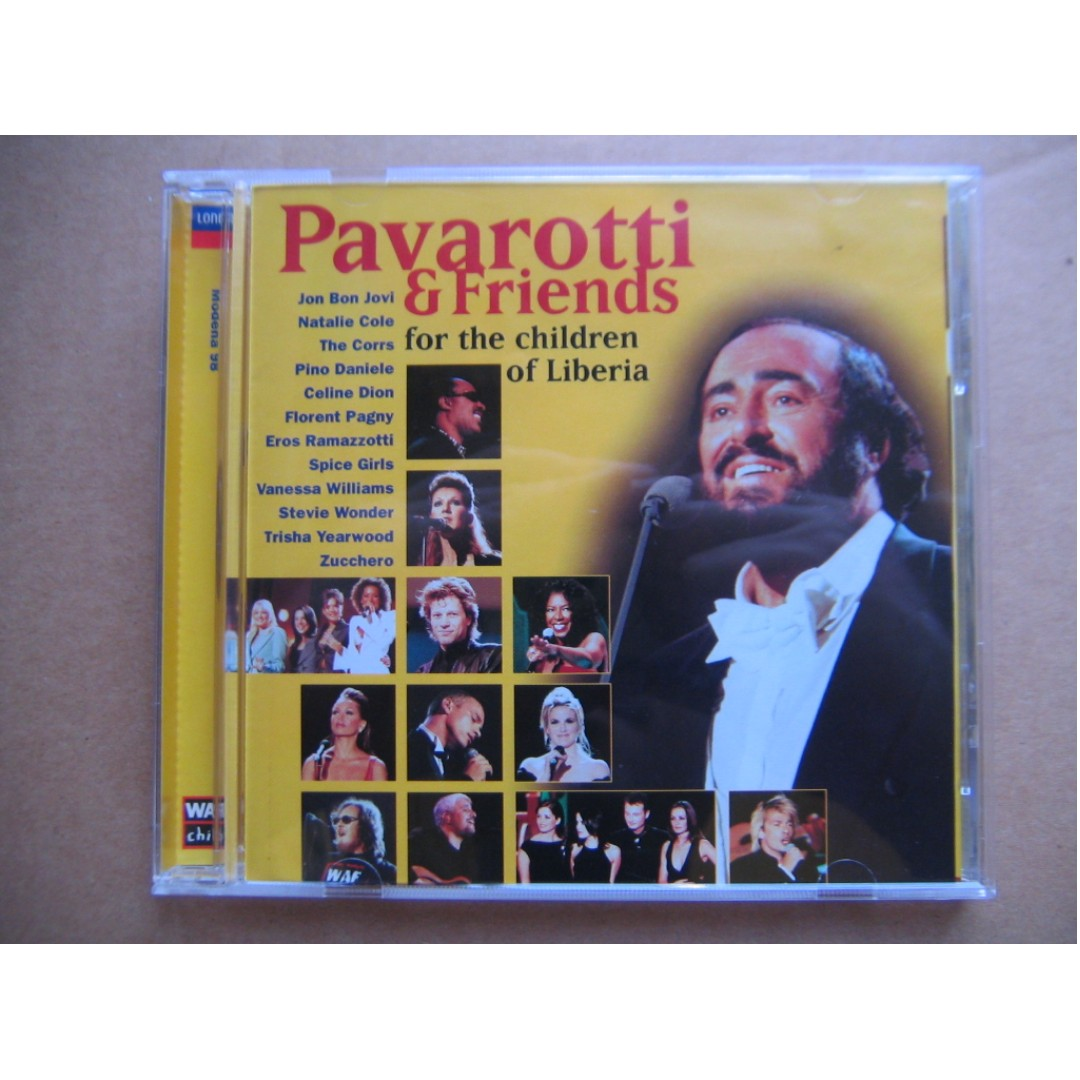 Pavarotti & Friends (For The Children Of Liberia) CD (美版) (Jon Bon Jovi /  Natalie Cole / The Corrs / Pino Daniele / Celine Dion / Florent Pagny /