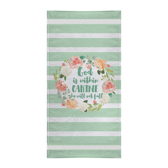 Personalised Towel Bible Verse Christian Gift